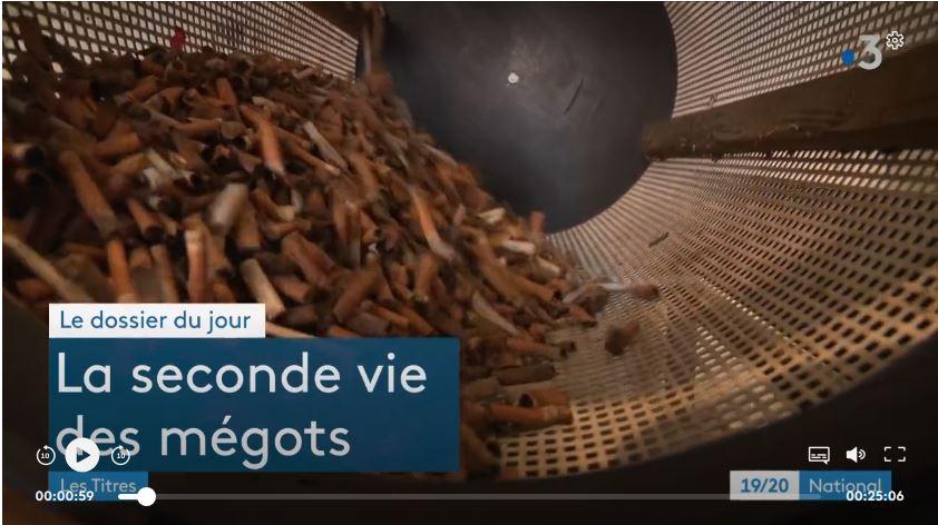 Apparition de TchaoMegot dans le journal national de France 3